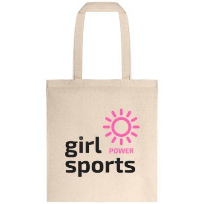 Tote bag Girl Power Sports - Naturel