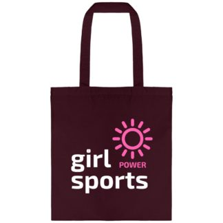 Tote bag Girl Power Sports bordeaux