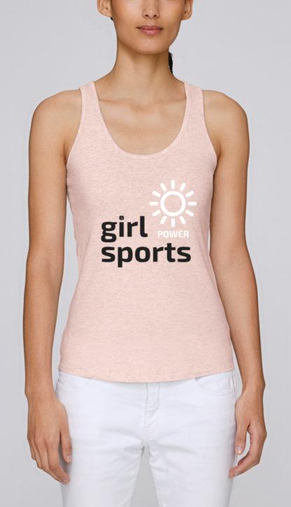 Débardeur bio femme Girl Power Sports