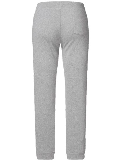 Pantalon de Jogging Femme coton bio - Gris chiné - Dos