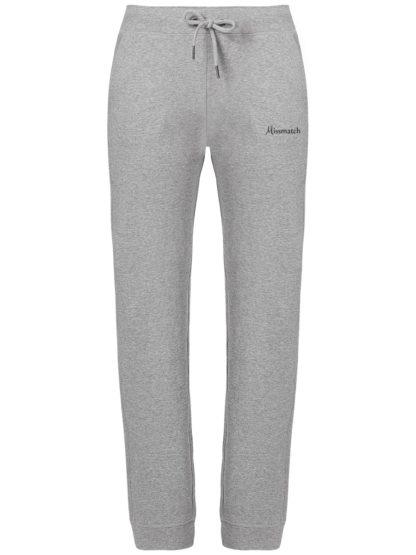 Pantalon de Jogging Femme coton bio - Gris chiné - Face