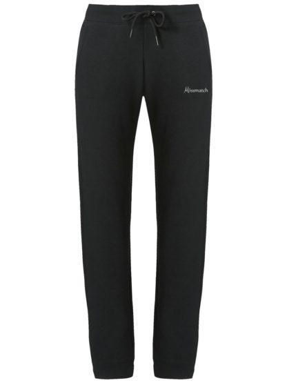 Pantalon de Jogging Femme coton bio - Noir - Face