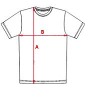 Guide des tailles de notre t-shirt homme col rond